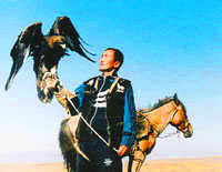Eagle hunting in Kazakhstan. Kazakhstan photos